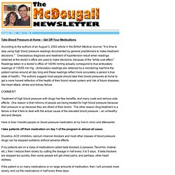 The McDougall Newsletter August 2002 Take Blood Pressure at Home