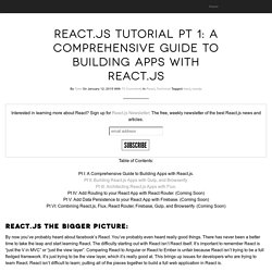 Tyler McGinnis » React.js Tutorial Pt 1: A Comprehensive Guide to Building Apps with React.js