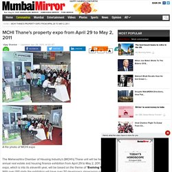MCHI Thane's property expo from April 29 to May 2, 2011