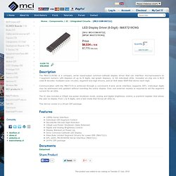 MCI Ltd - Olimex Chile - Componentes / IC - LED Display Driver (8-Digit) - MAX7219CNG - SKU: MCI-COM-00722