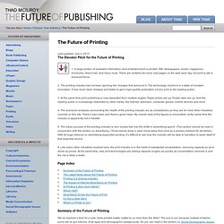 The Future of Printing