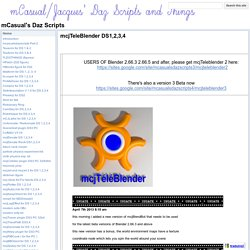 mcjTeleBlender DS1,2,3,4 - mCasual's Daz Scripts