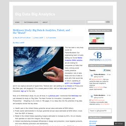 "McKinsey Study: Big Data & Analytics, Talent, and the ""Brand"""