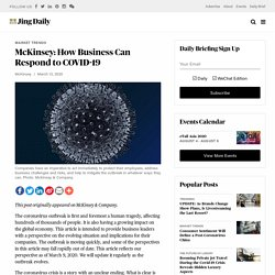 McKinsey: How Business Can Respond to COVID-19
