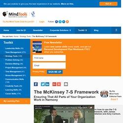 The McKinsey 7S Framework - Strategy Skills from MindTools.com