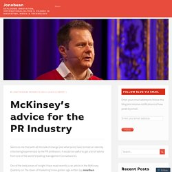 McKinsey's advice for the PR Industry