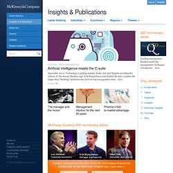 McKinsey Quarterly: The Online Journal of McKinsey & Company