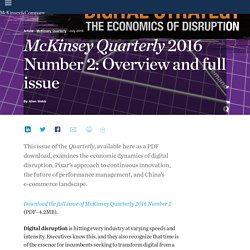 Quarterly 2016 Number 2: Overview and full issue