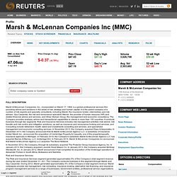 Marsh and Mclennan Companies Inc (MMC) Company Profile