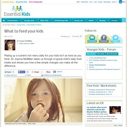 Examples of a Healthy Child's Diet