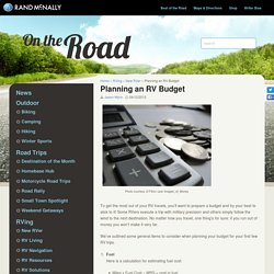Rand McNally Blog – New RVer - RV Living - Planning an RV Budget