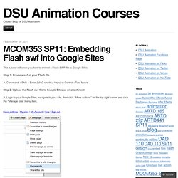 MCOM353 SP11: Embedding Flash swf into Google Sites « DSU Animation Courses