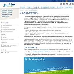 McPhy - Mobilité hydrogène