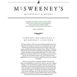 McSweeney's: Quarterly & Books