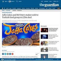 Jaffa Cakes and McVitie's maker sold to Turkish food group in £2bn deal