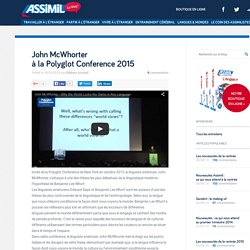 John McWhorter à la Polyglot Conference 2015