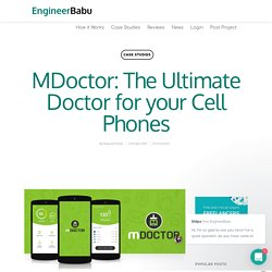 MDoctor: The Ultimate Doctor for your Cell Phones - EngineerBabu