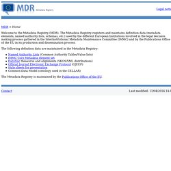 MDR home page