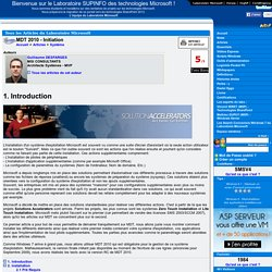 MDT 2010 - Initiation