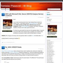 MDX – Tomislav Piasevoli – BI Blog