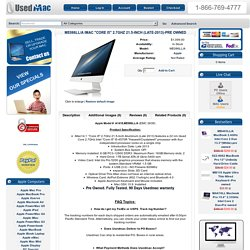 "ME086LL/A iMac ""Core i5"" 2.7GHz 21.5-Inch (Late-2013)-Pre owned"