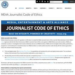 MEAA Journalist Code of Ethics