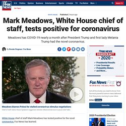 Mark Meadows, White House chief of staff, tests positive for coronavirus