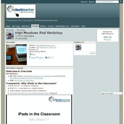 High Meadows iPad Workshop