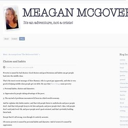 meaganmcgovern - Blog - Choices and habits