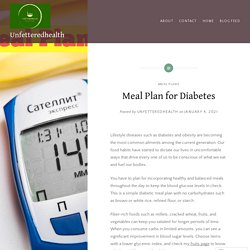 Meal Plan for Diabetes – Unfetteredhealth