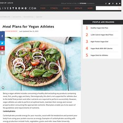 Meal Plans for Vegan Athletes