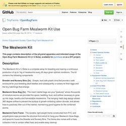 Open Bug Farm Mealworm Kit Use · TinyFarms/OpenBugFarm Wiki