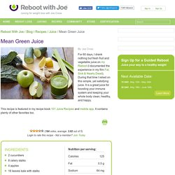 Mean Green Juice Recipe by Joe Cross