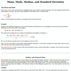 DMP- Mean, Mode, Median, and Standard Deviation