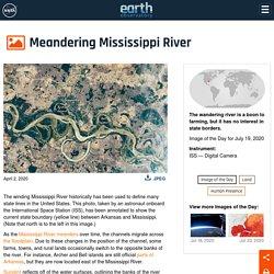 Meandering Mississippi River