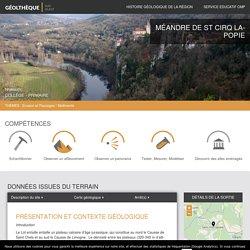 Méandre de St Cirq Lapopie – Géolthèque Sud-Ouest