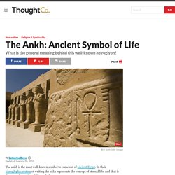 Meaning of the Ankh, an Ancient Egyptian Symbol