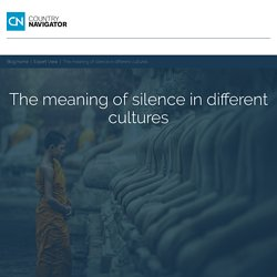 The meaning of silence in different cultures
