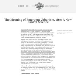 The Meaning of Emergent Urbanism, after A New Kind of Science