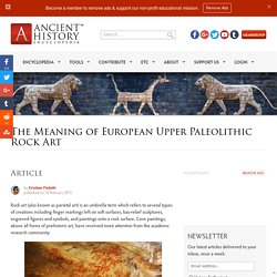 The Meaning of European Upper Paleolithic Rock Art