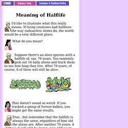 Meaning of Halflife