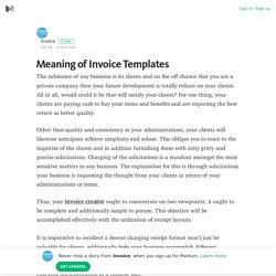 Meaning of Invoice Templates – Invoice – Medium