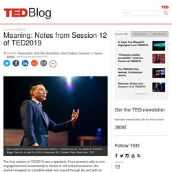 Meaning: Notes from Session 12 of TED2019
