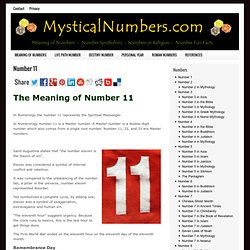 Meaning of Number 11