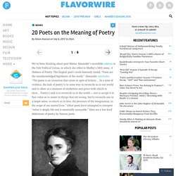 20 Poets on the Meaning of Poetry