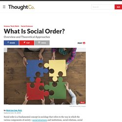 The Meaning of Social Order in Sociology
