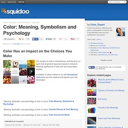 Color: Meaning, Symbolism and Psychology