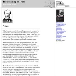 The Meaning of Truth (by William James)