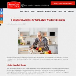 6 Meaningful Activities for Elderly People with Dementia