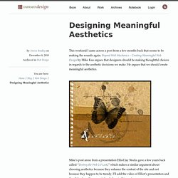 Designing Meaningful Aesthetics - Vanseo Design
